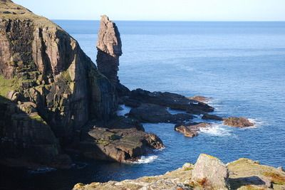 A visit to the Old Man of Stoer, a spectacular sea-stack. The walking is rough but the coastal scenery impressive; the return is over a low hill with fantastic views in clear weather. This is the best walk in Assynt for whale and dolphin spotting.