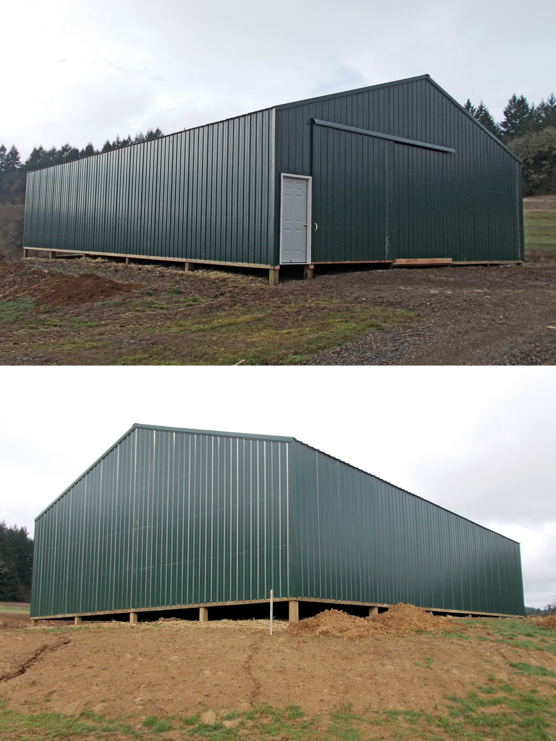 40' x 60' x 12' agriculture building with a slider door and walk-in door. www.econofabbuildings.com