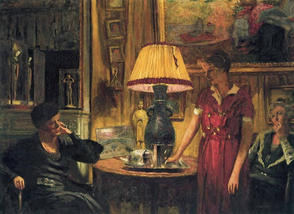 Edouard Vuillard (1868-1940)  In the Salon, Evening, Rue de Naples 1933
