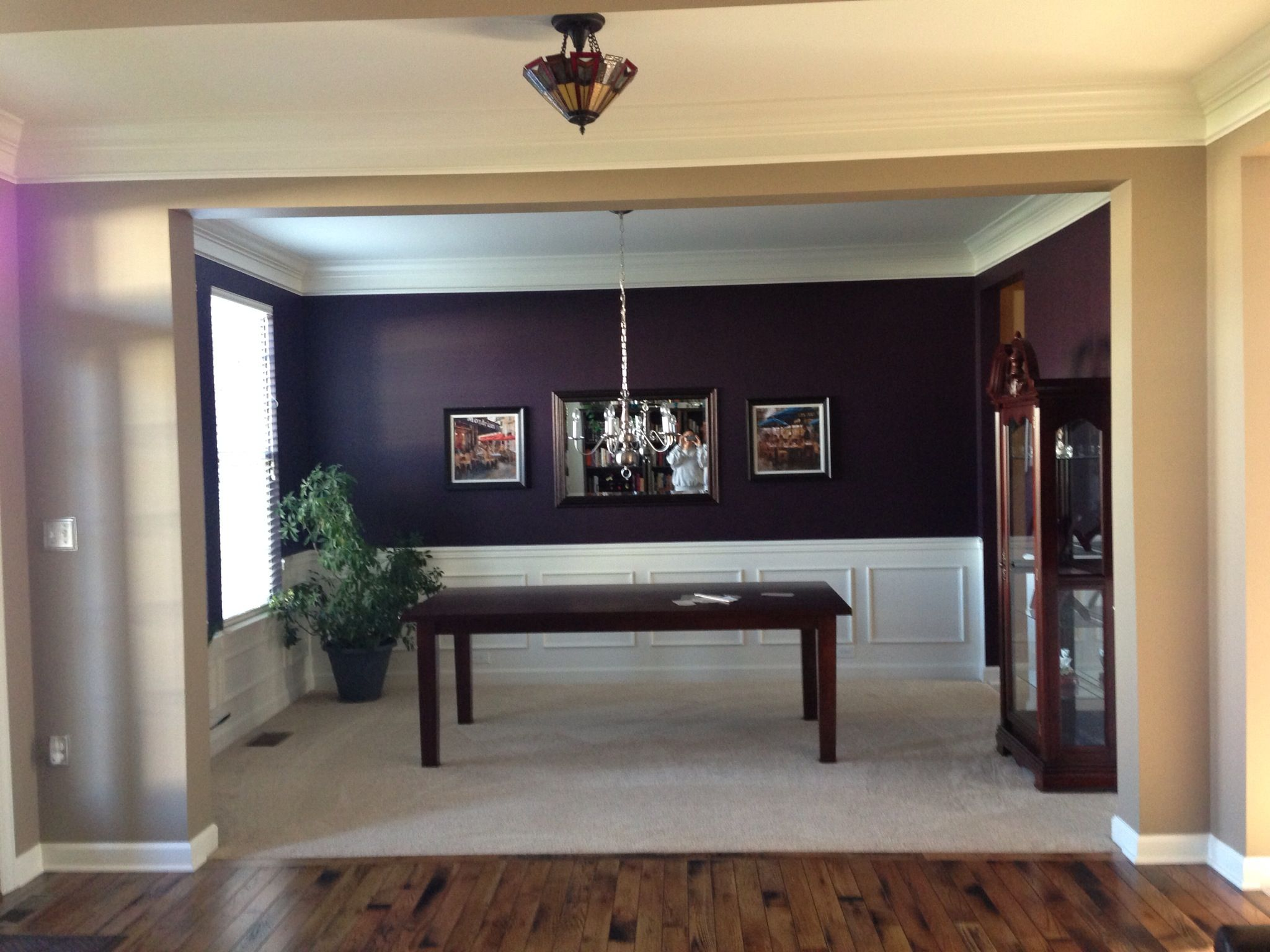 just painted my dining room dark eggplant! ❤ | decor ideas