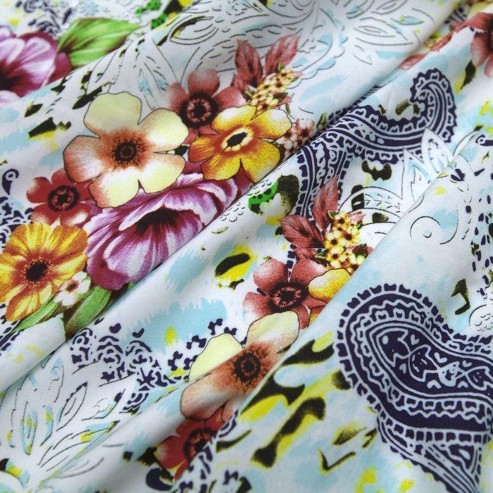 a12cf4c27 Tecido viscose branca estampada flores - Maximus Tecidos | Loja Online