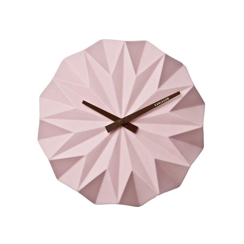 horloge karlsson design origami ceramique inspi deco. Black Bedroom Furniture Sets. Home Design Ideas