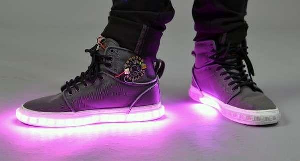 Diy Led High Tops Diy Sneakers Light Up Sneakers Fancy Sneakers