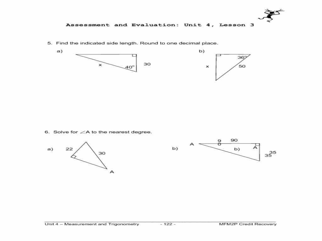 Trigonometric Ratios Worksheet Answers Fresh Primary Trig