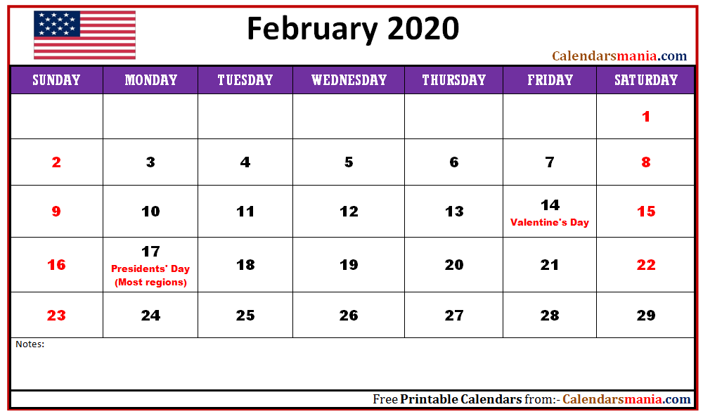 2020 calendar with holidays usa