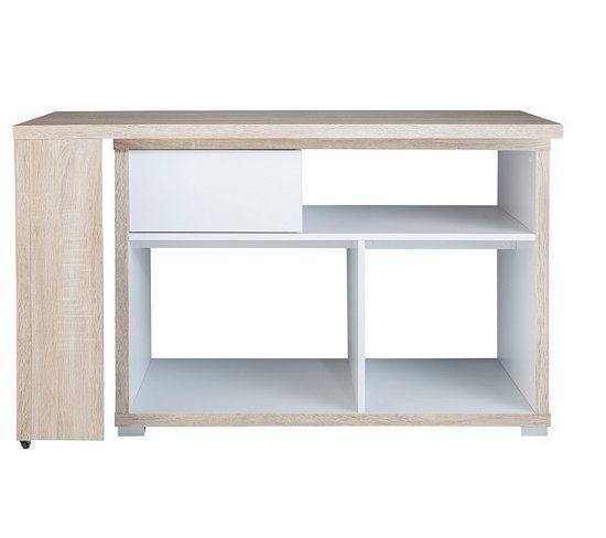 Bureau d 39 angle django blanc bureaux but chene blanc - Bureau d angle blanc pas cher ...