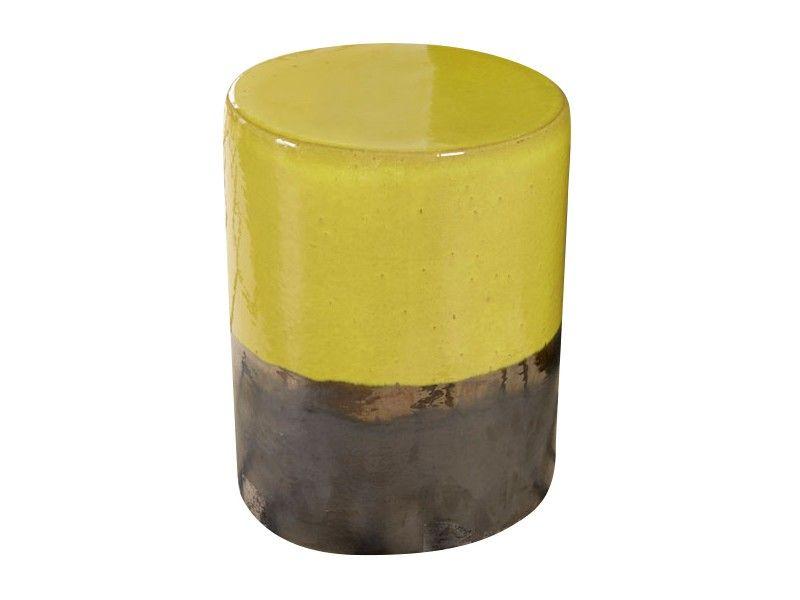 Mustard Yellow Two Tone Garden Stool
