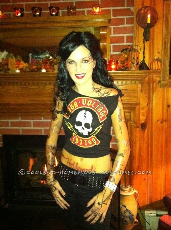 c285df88adb4a Coolest Kat Von D and Jesse James Couple Costume ...This website is the  Pinterest of birthday cakes