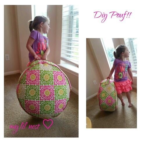 Diy Pouf!! @ https://m.facebook.com/Mariettascreationsandtidbits n/k/a my lil nest ♡