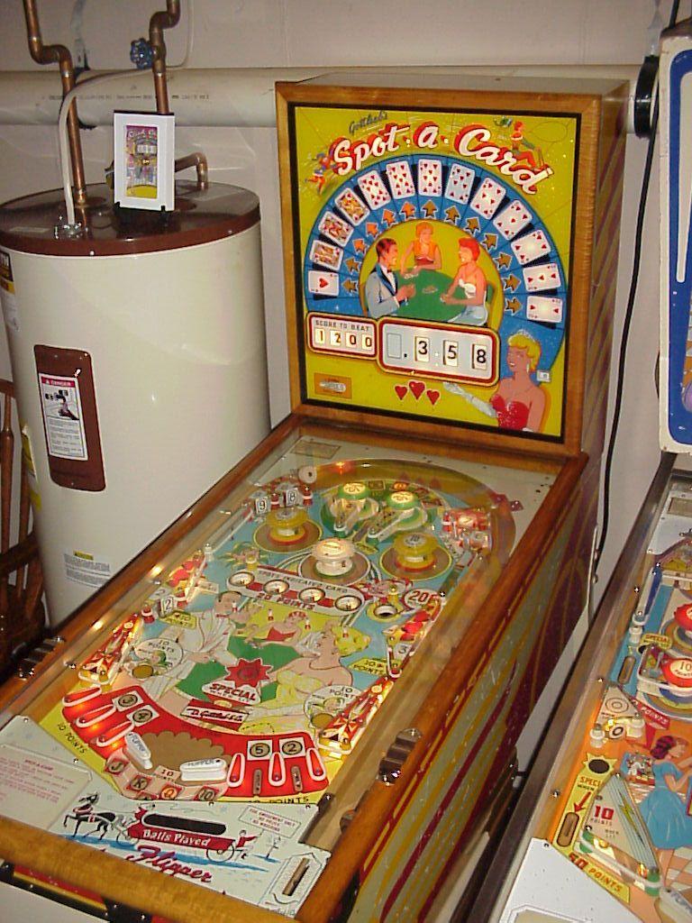 """1960 Spot a Card """"Gottlieb """" Pinball Machine Pinball"""