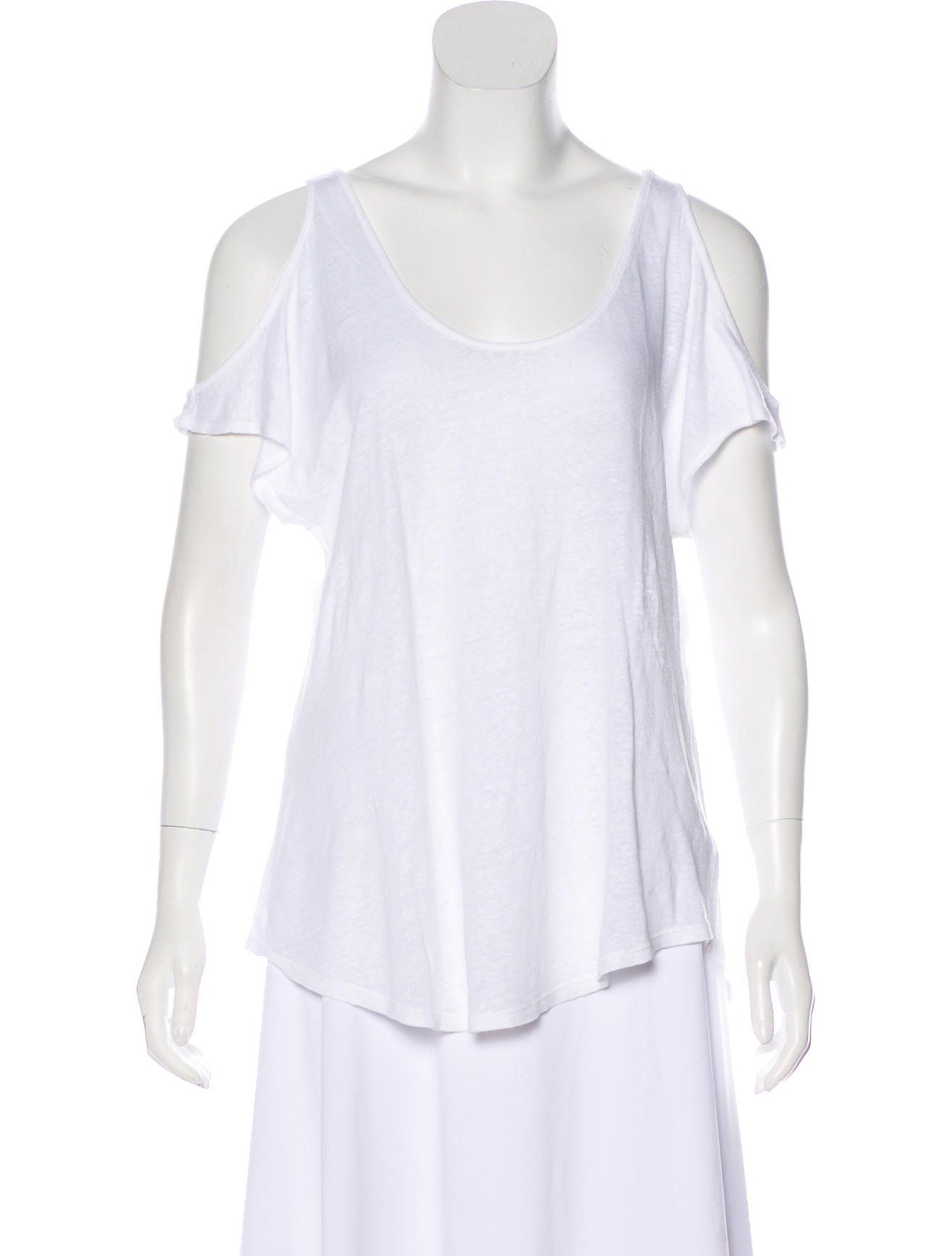 Linen Cold Shoulder Top Tops Fashion Tunic Tops
