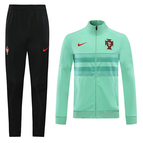 2020 Portugal Green Player Version Training Kit Jacket Trouser Cheap Soccer Jerseys Shop In 2020 Training Kit Jackets Soccer Jersey