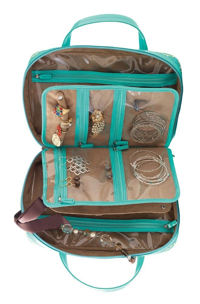 SD jewelry tote for safe storage and travel of your jewels Comes
