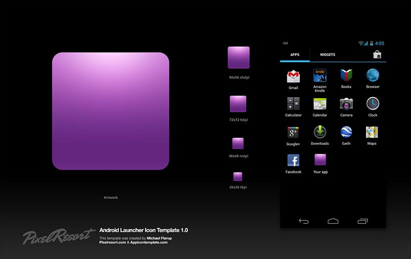 Android App Icon Template | Design Freebies: Icons | Pinterest | App ...