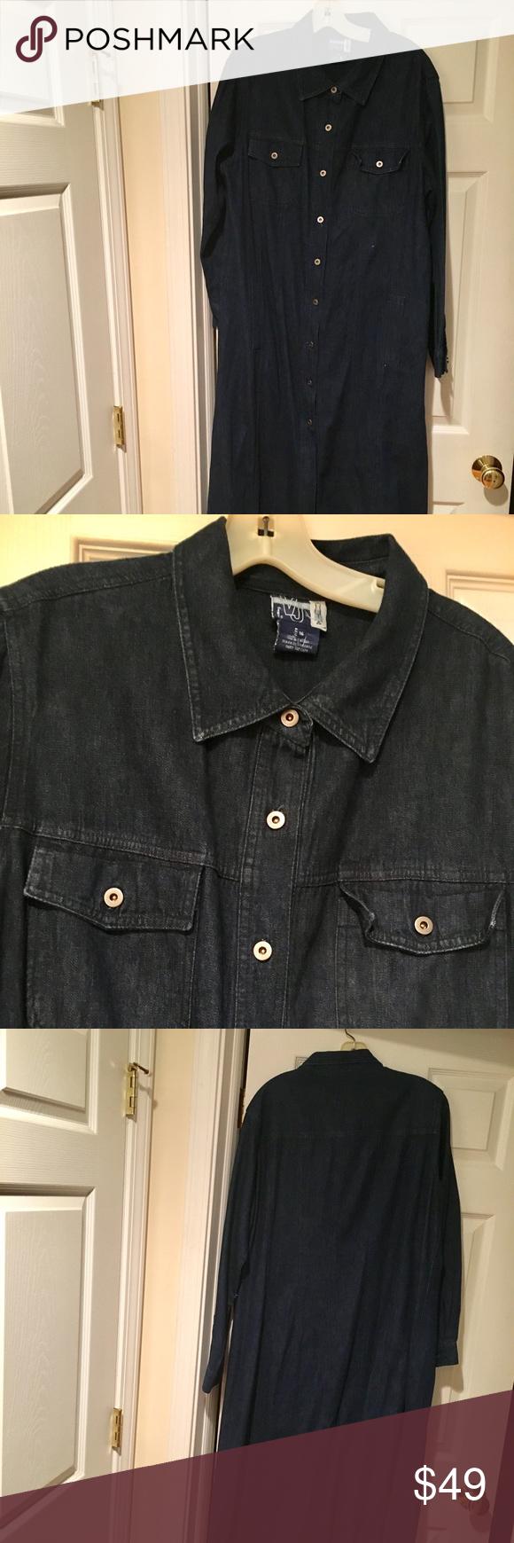 Venezia jeans blue jean maxi dress wbutton front side split maxi