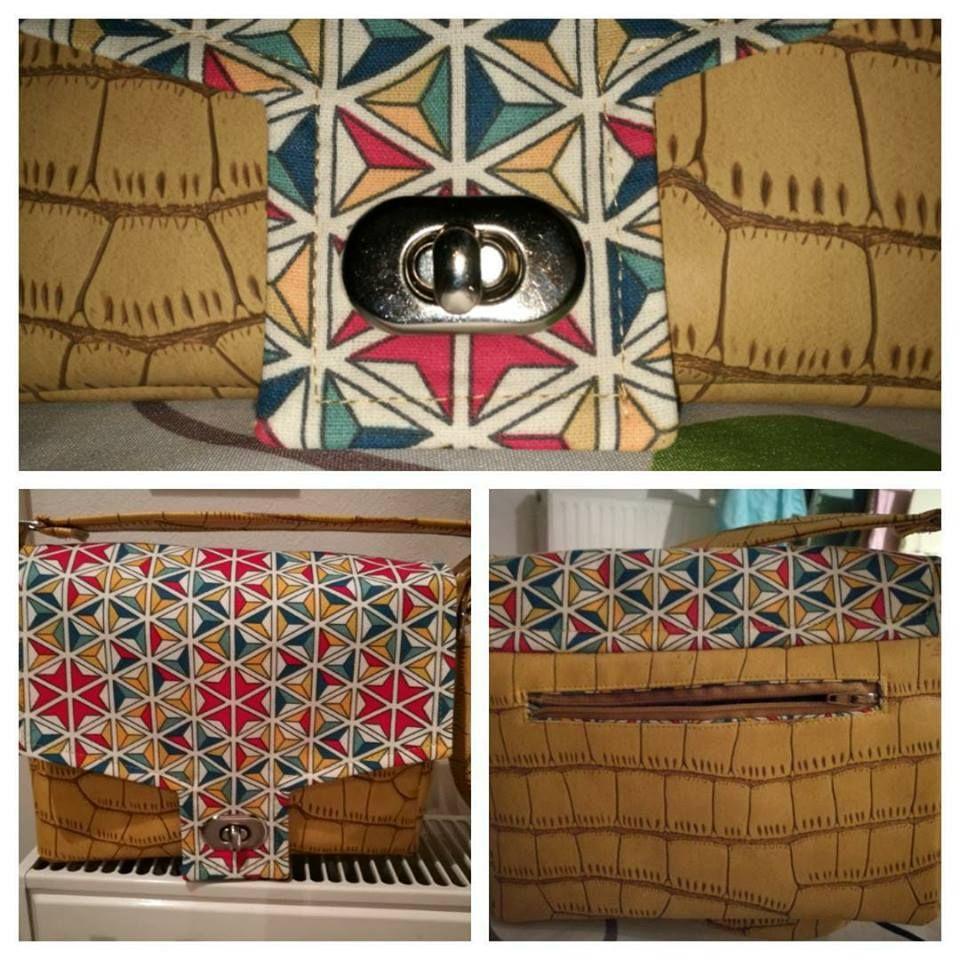Petit sac bandoulière Menuet cousu par L'atelier Manu