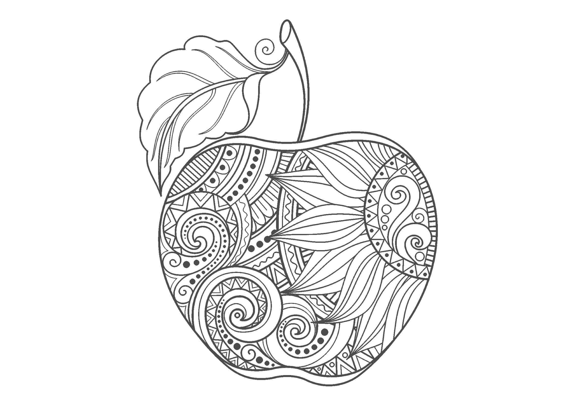 無料大人の塗り絵|野菜・果物 塗り絵, 塗り絵 無料, 大人の