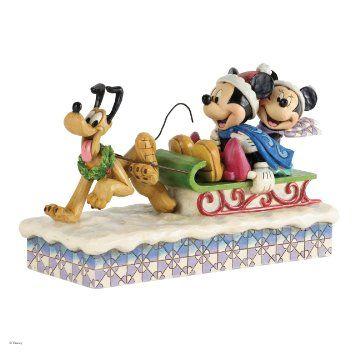 Jim Shore for Enesco Disney Traditions Mickey, Minnie and Pluto Figurine, 5.75-Inch