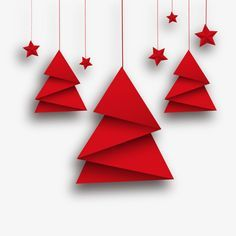Vector Origami Christmas T And Red Stars, Clipart, Greeting Cards, Star PNG Transparent Clipart Image and PSD File for Free Download