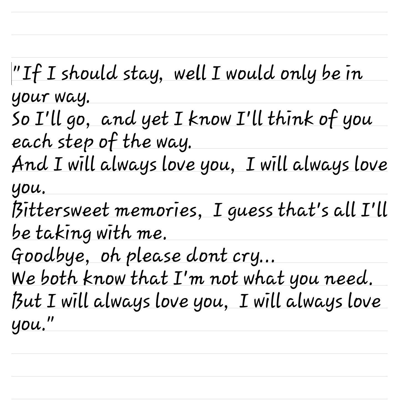 Lyrics i will always
