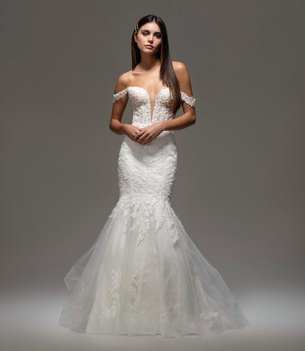 Tara Keely Ivory Silk Taffeta Off Shoulder Gown: Style 22006 Regina Tara Keely Bridal Gown