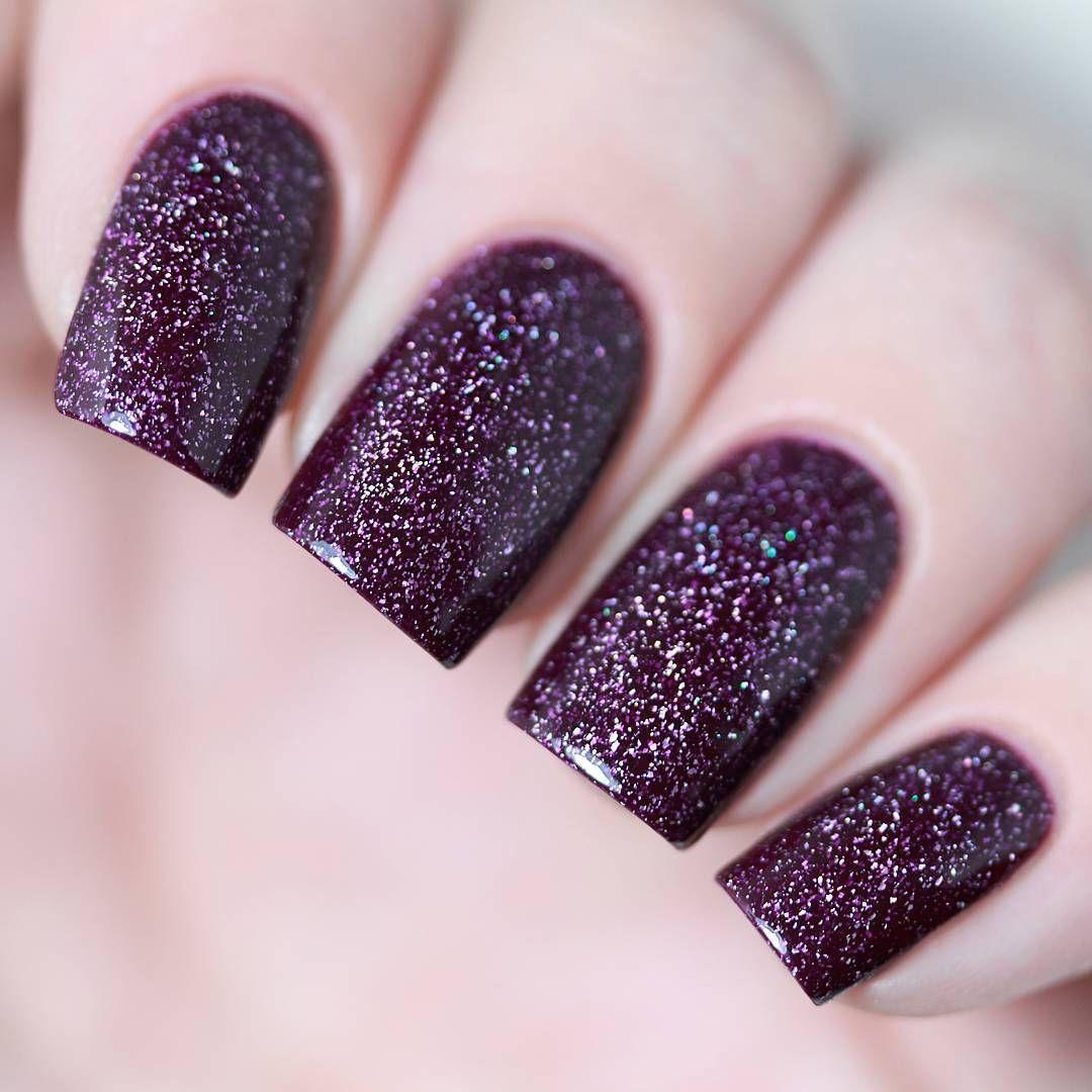 Simple Purple Acrylic Nail Designs