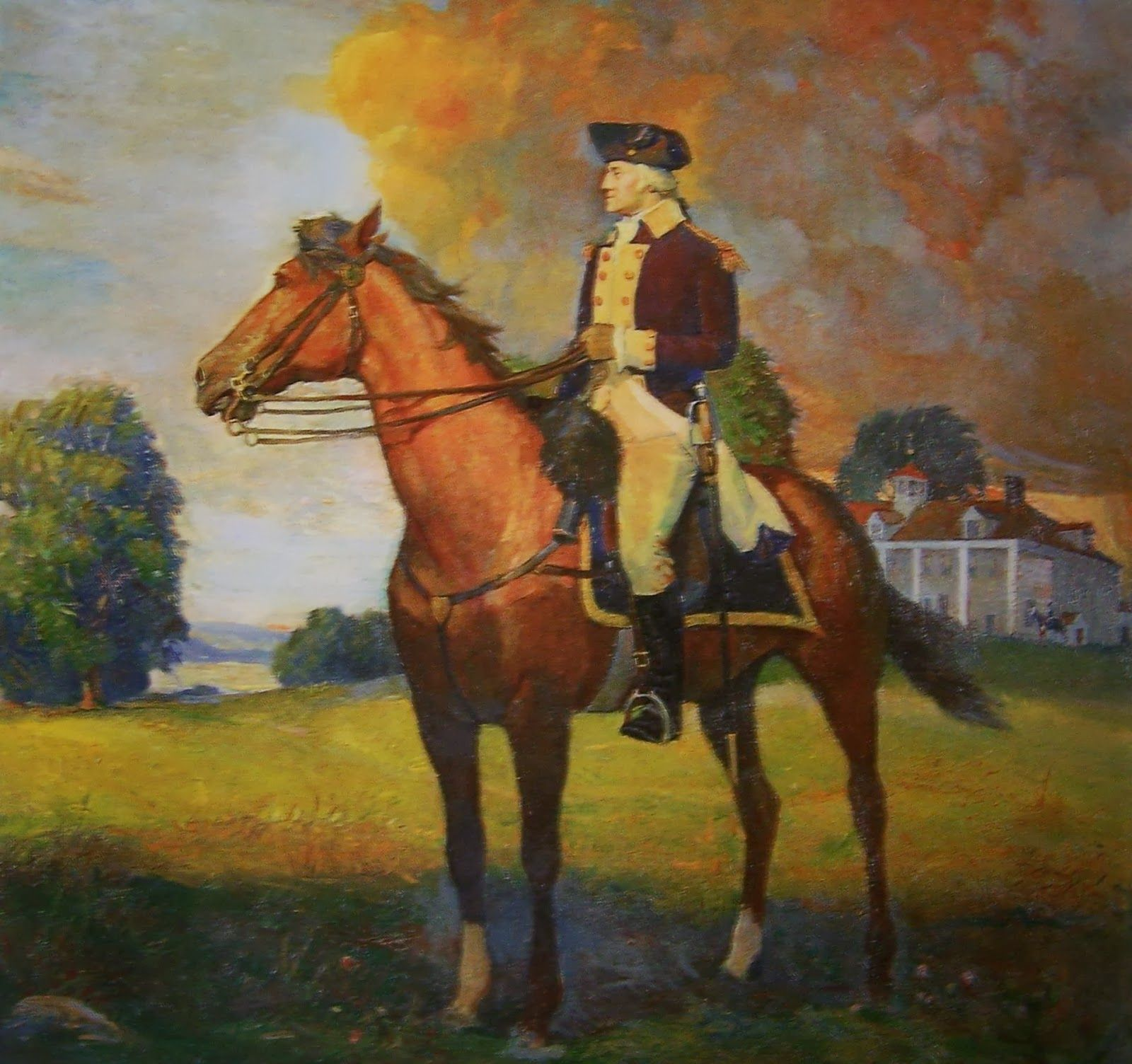 """Washington and his war horse """"Nelson"""". He preferred"""