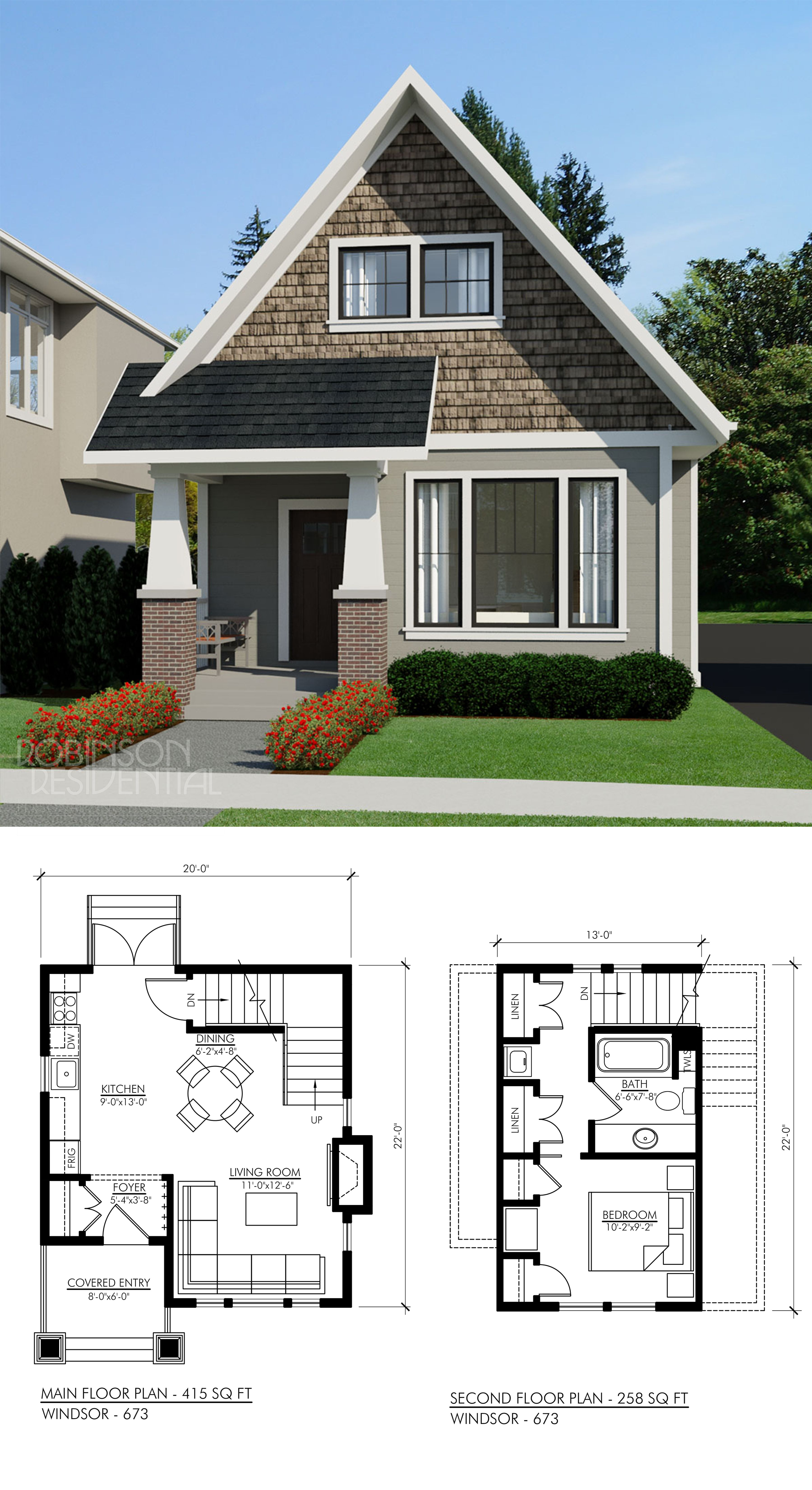 Tiny Home Designs: Craftsman Windsor-694 In 2019