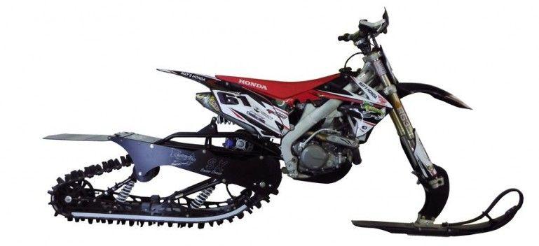 Timbersled S Mountain Horse Kit Converts Motorbikes Into Snow Machines Images Bike Bike Kit Snowbike