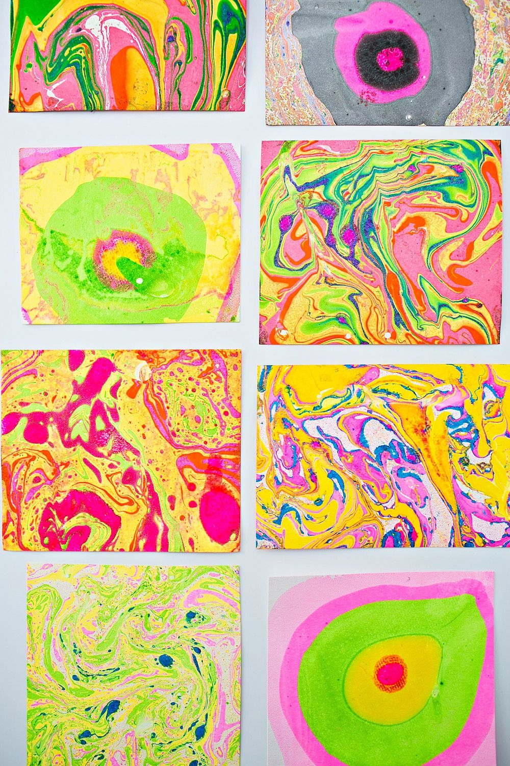 Easy Diy Paper Marbling At Home Arts And Crafts For Kids Easy