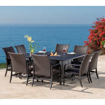 Bellafina 9 Piece Fire Dining Set