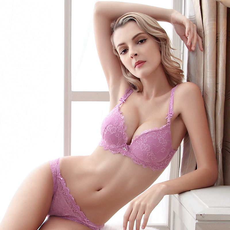 2016 Sexy Purple Lace Lingerie Bra Sets Women's Underwear | Sexy ...