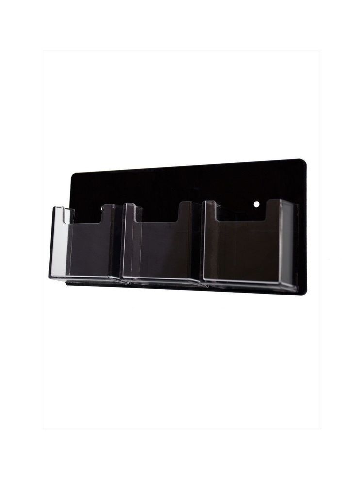 Lot of 12 Vertical Business Card Holders Wall Mount 3 Slot Card ...