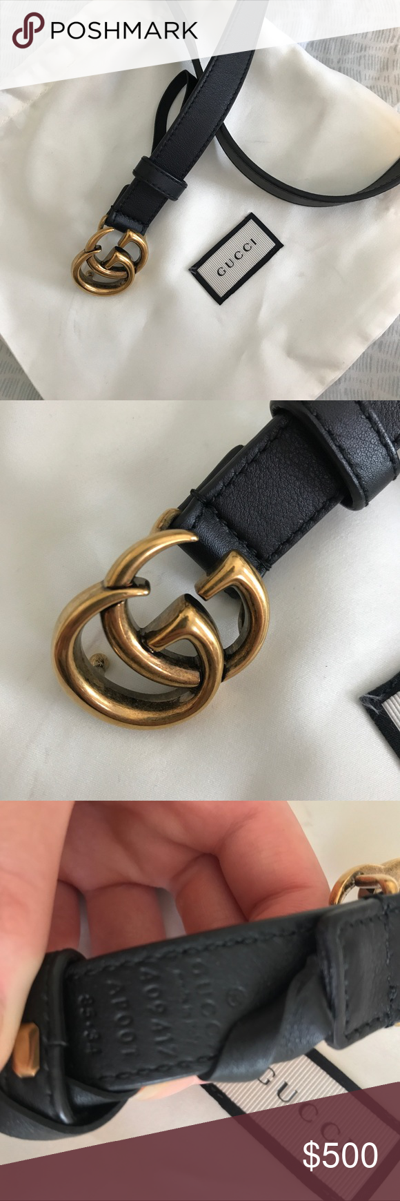 2c467f1718d Authentic Gucci Double G Marmont Belt 100% Authentic Gucci Belt. (I have  email