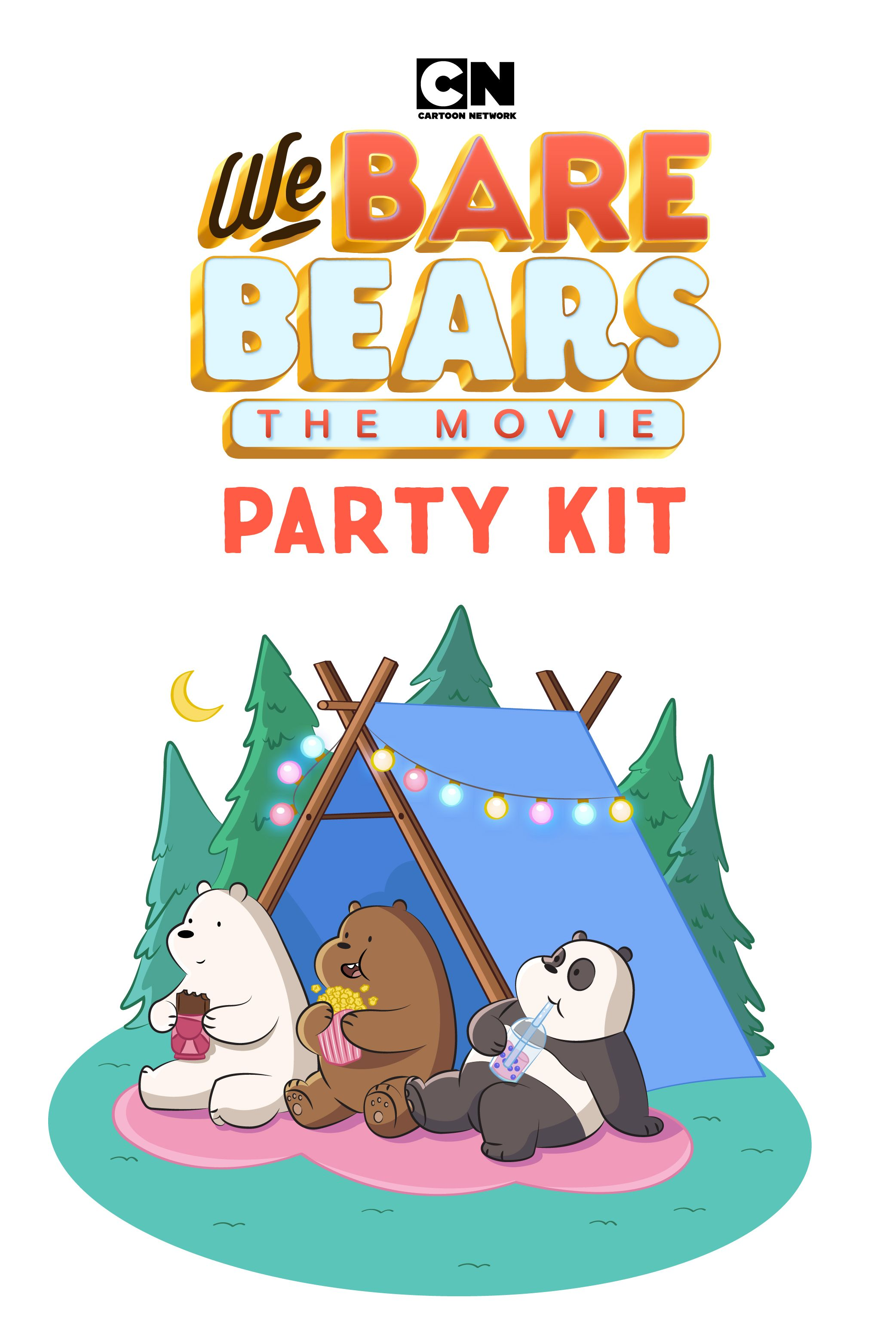 We Bare Bears Movie Printable Party Kit In 2020 We Bare Bears Party Kit Bare Bears