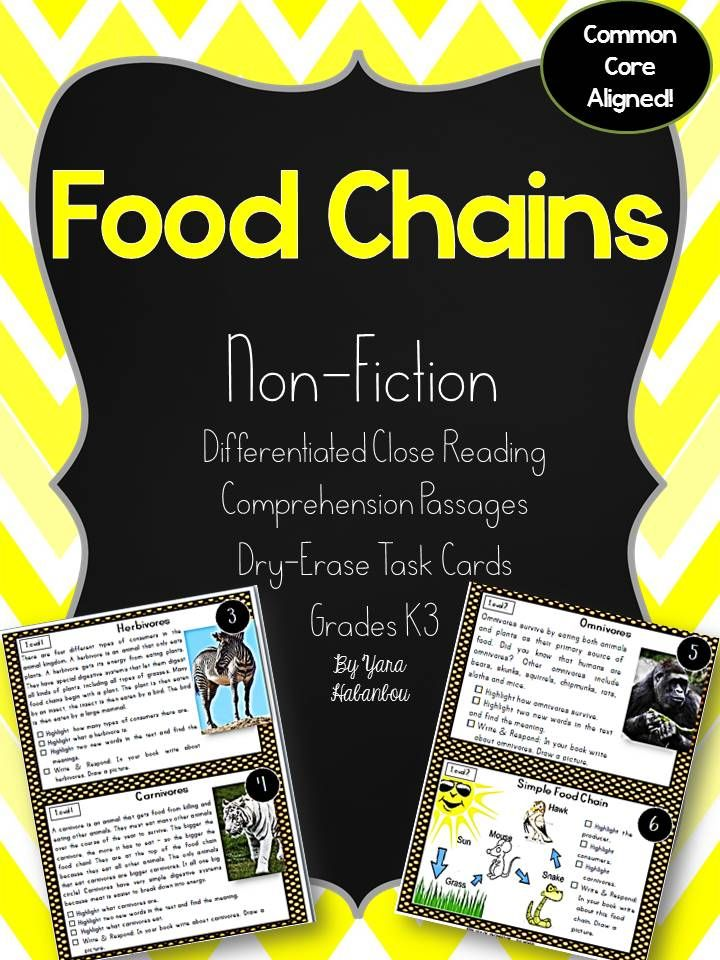 Nonfiction Leveled Reading Passages and Questions Food