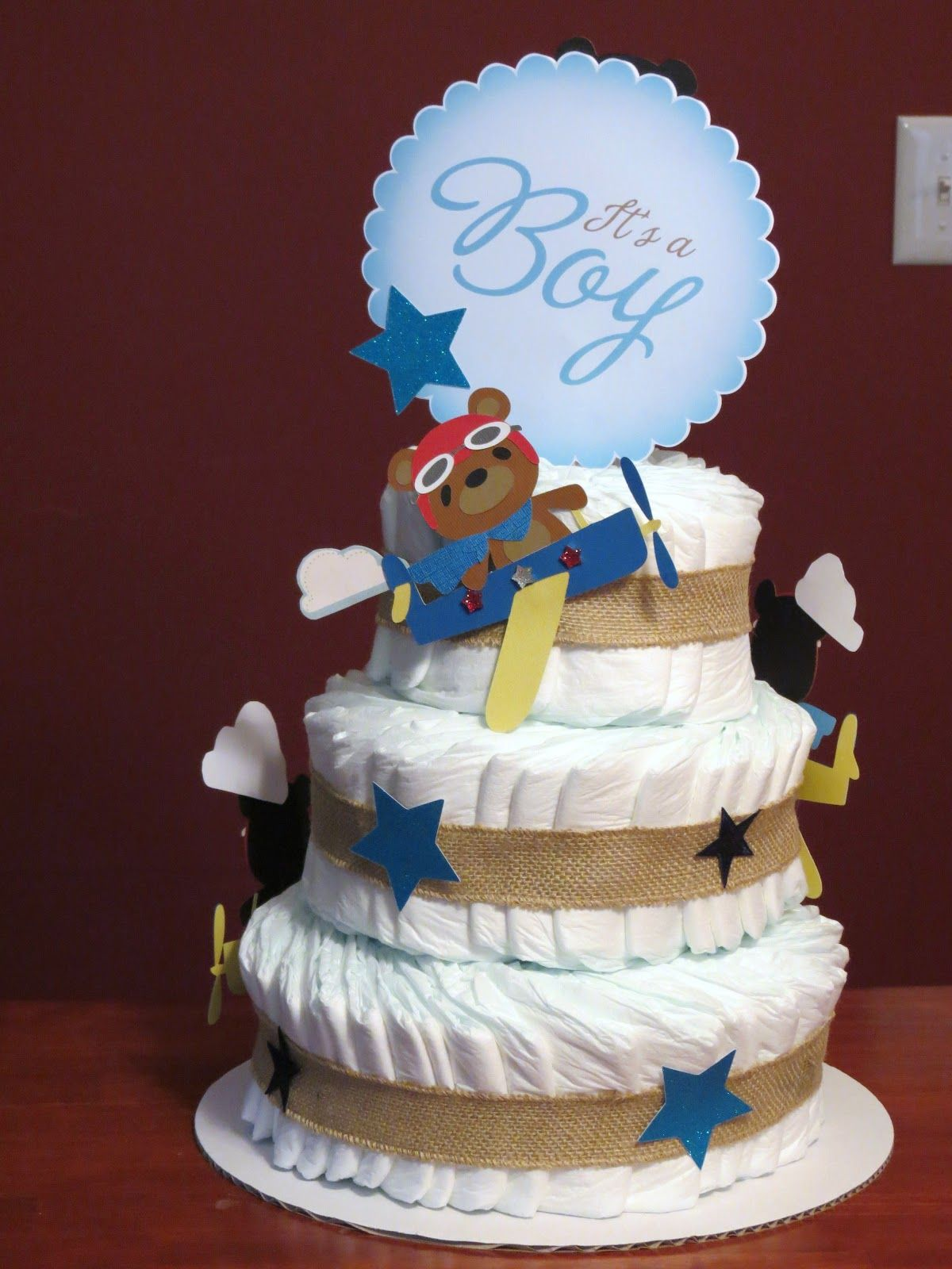 aviator diaper cake - Google Search