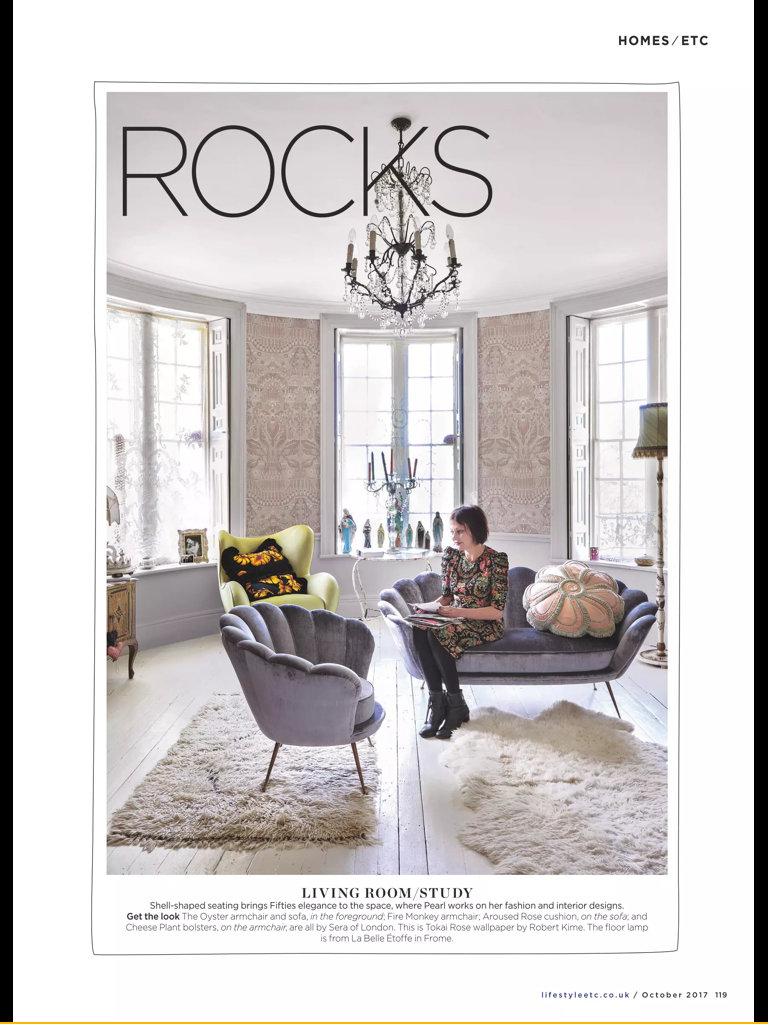 Pearl Lowe\'s living room seen in Living etc Oct 17 | Always some ...