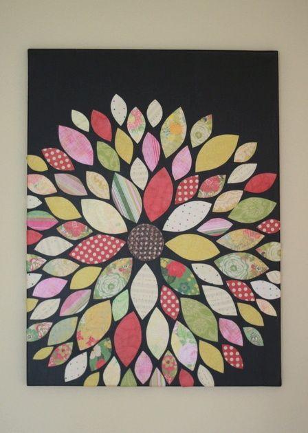 DIY Scrapbook Paper Flower Wall Art
