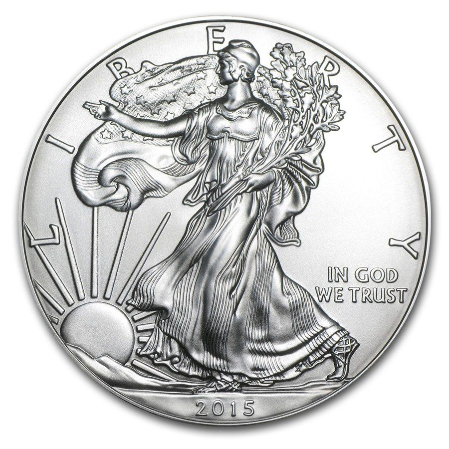2015 1 Oz Silver American Eagle Bu In 2020 Gold And Silver Coins Silver Coins Silver Eagle Coins