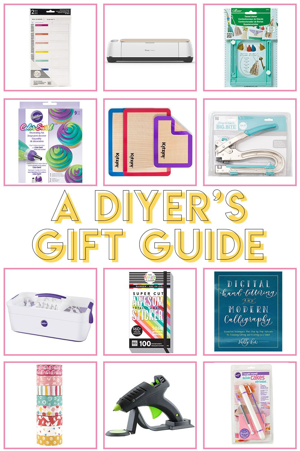 A Crafter Gift Guide Gift Ideas For Diyers Club Crafted Crafter Gift Gift Guide Gifts