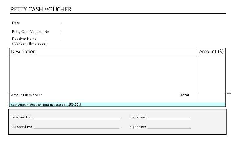 Petty Cash Voucher Format  Free Invoice Templates  Pinterest  Templates Voucher sample and