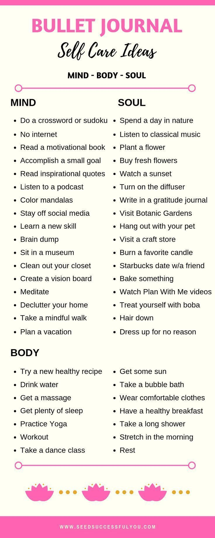 48 Bullet Journal Self-Care Ideas for a Healthy Mind, Body & Soul!