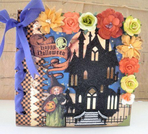 ELITE4U Happy Halloween Themed Premade Paper Bag Album by papercupcake | eBay