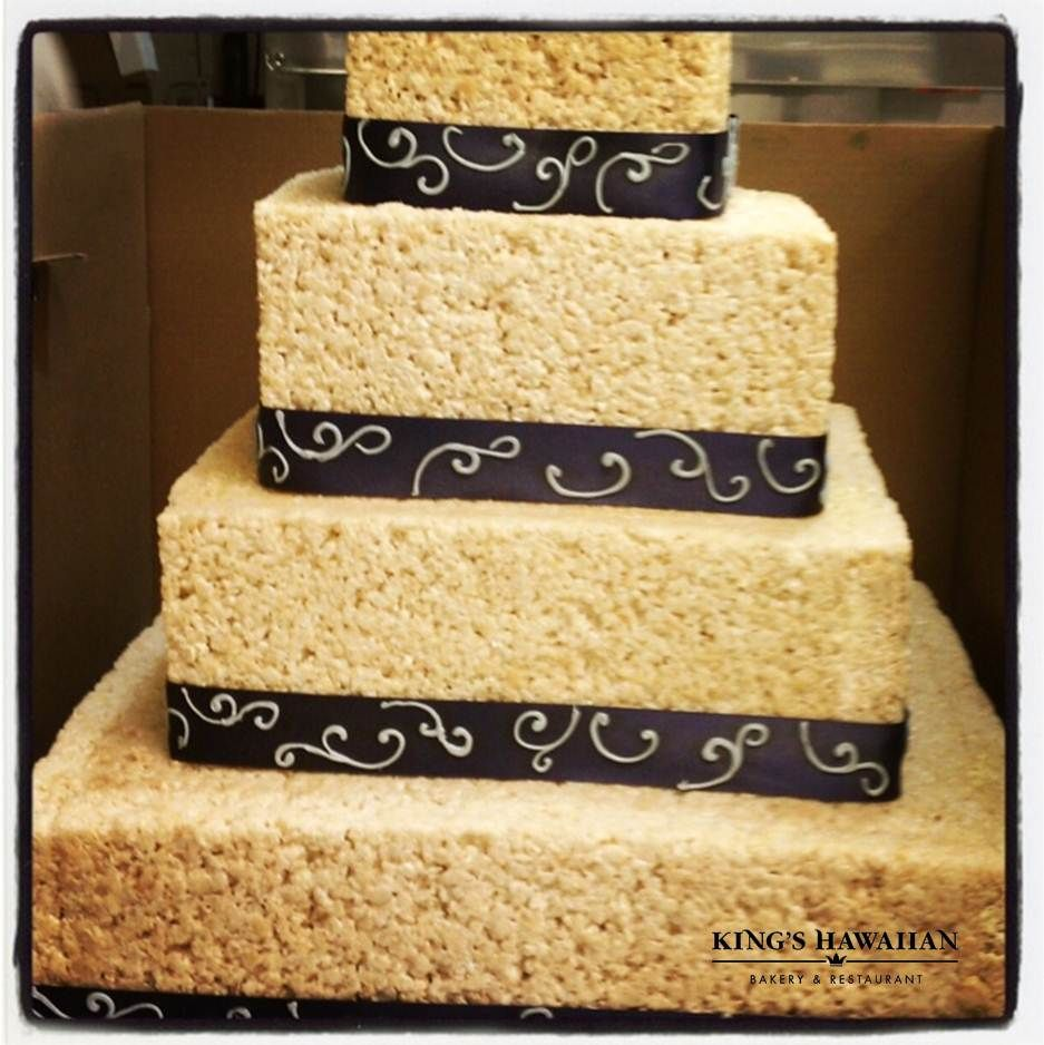 kings hawaiian wedding cake ricekrispy wedding cake king s hawaiian bakery 16643