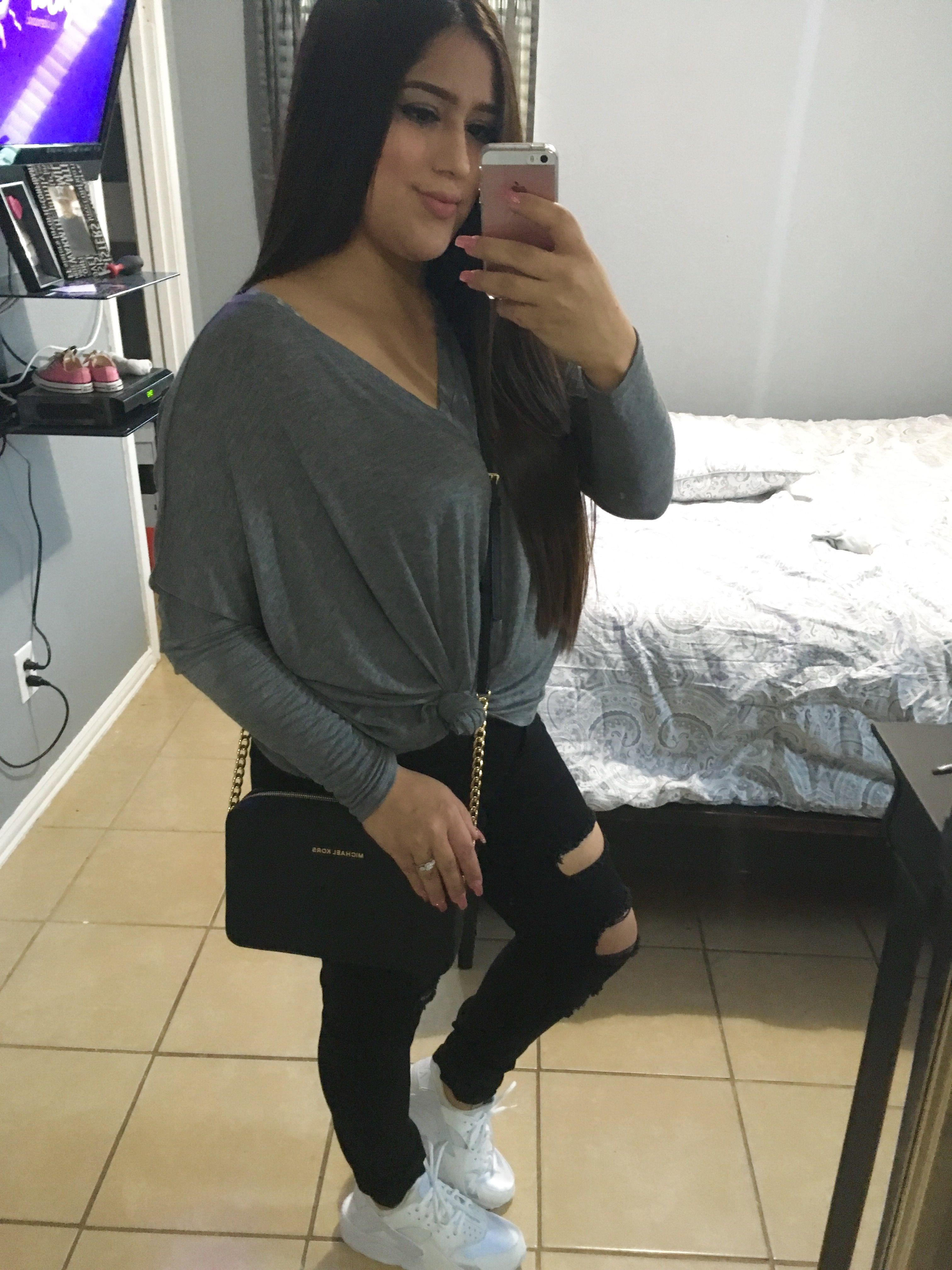 nike huarache with jeans
