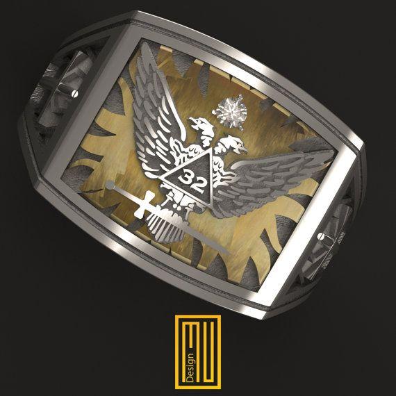 Ring for Scottish Rite 32nd Degree | Rings, Masonic ...