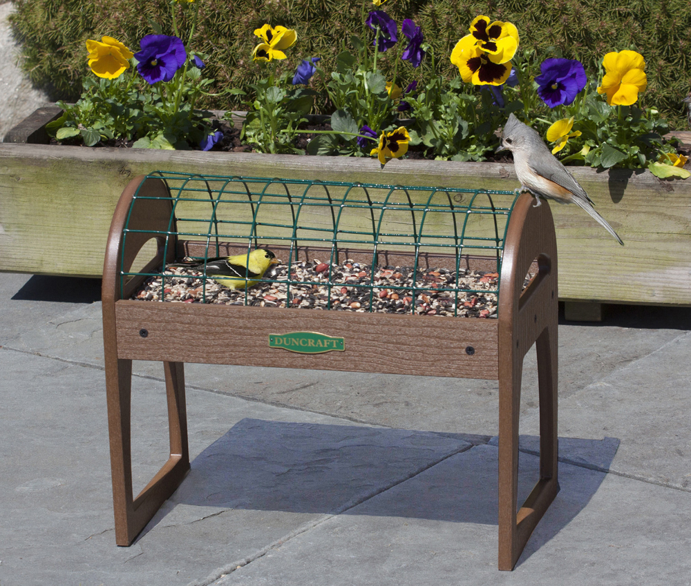 Buy the Raised Haven Platform Feeder at duncraft.com. 100% Satisfaction Guaranteed at your Wild Bird Superstore.