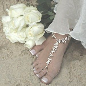 WOW! An amazing new weight loss product sponsored by Pinterest! It worked for me and I didnt even change my diet! Here is where I got it from cutsix.com - Swarovski Pearl Floating Pearl Beach Wedding Barefoot Sandals
