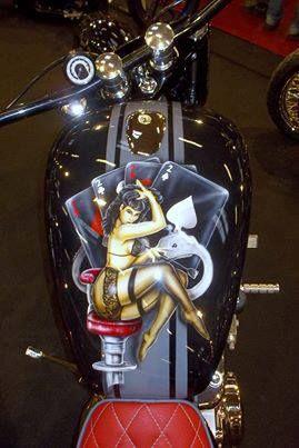 Pinup Girl Gas Tank  LHH-D www loesshillshd com | Tank Art
